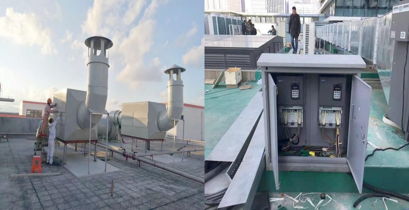 三科变频器在环保风机上的应用