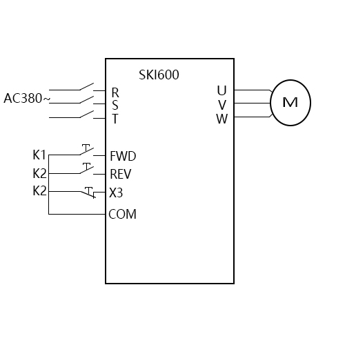SK600三科变频器三线模式一启停视频指导